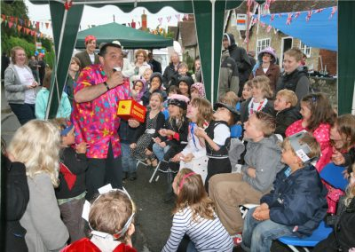 Marli on Jubilee Day 2012 at the lovely village of Great Chart - It was raining but we made some magic anyhow.