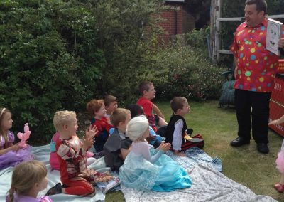 Marli at a kids party in the garden in Gillingham