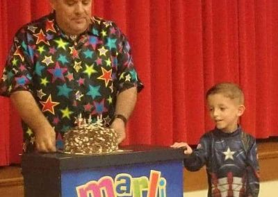 Marli at a birthday party in Minster Sheppey It's time to sing Happy Birthday!
