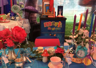 Marvellous party setting by Dulcima's Delights for Amelie's Childrens Party in Sittingbourne