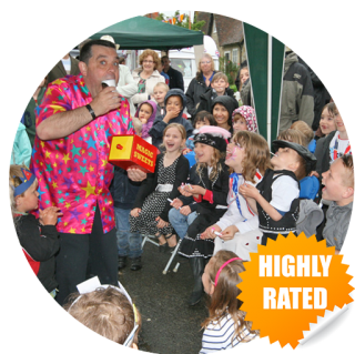 highly rated childrens entertainer in eats sussex for parties, fetes and fayres
